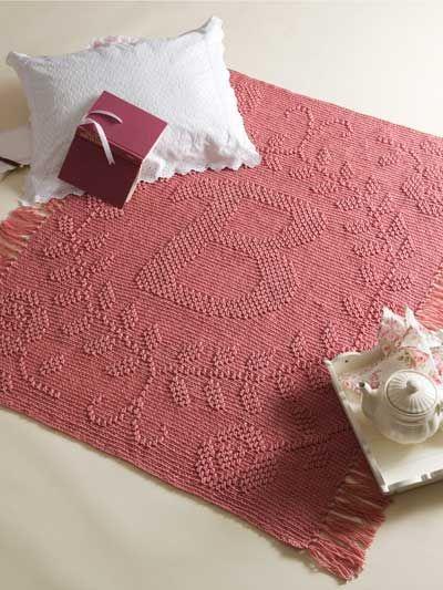 Crochet Patterns For Children s Blankets : Crochet - Children & Baby Patterns - Blankets - Monogram ...