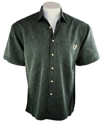 Bamboo Cay - Island Soft, Tropical Style Black Color Camp Shirt