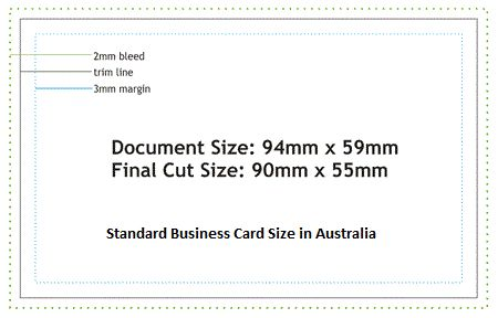 Nice Average Business Card Size In Australia Best Business Cards