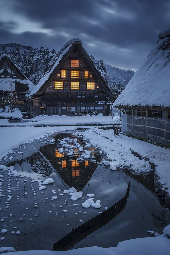 hyper-caine: Shirakawa-Go, Alpes japonaises |  Source |  HC