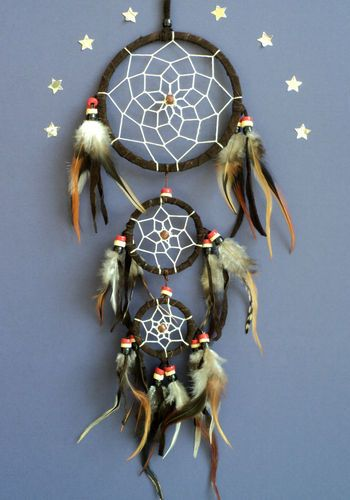 DREAM CATCHER NATIVE AMERICAN INDIAN STYLE dreamcatcher BROWN | eBay