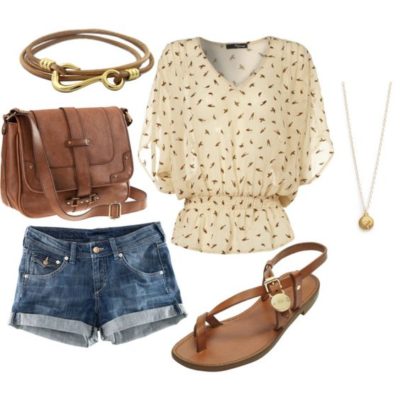 Blouse and shorts, perfect look