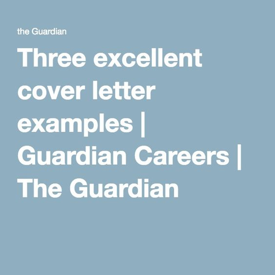 Letter example, Cover letter example and Career on Pinterest