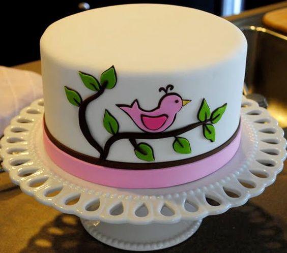 Girl Bird Cake