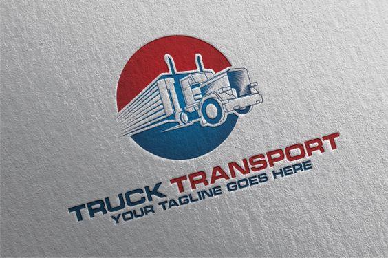 Truck Transport Logo by REDVY on Creative Market