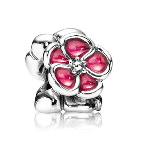Pandora Red Enamel Poppy Charm