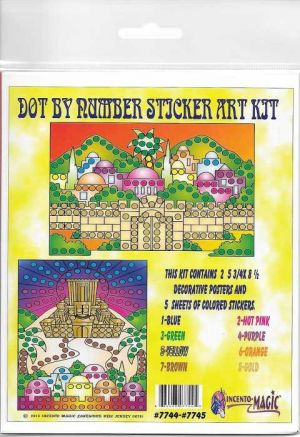 #7744-7745 Yerushlayim Dot Art. This Package includes 2- 5 3/4 x 8 1/2 Backers and corresponding dots.