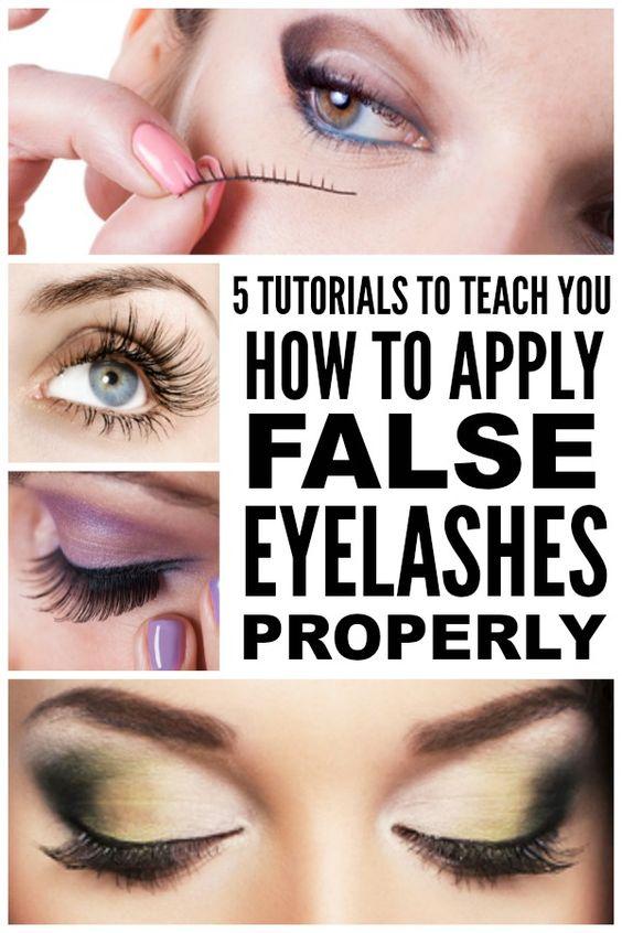 5 Tutorials To Teach You How To Apply False Eyelashes