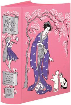 The Pink Fairy Book by Andrew Lang. Bound in cloth, blocked with a design by Debra McFarlane.
