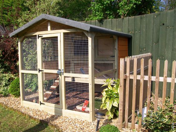 Aviaries 4 U make great rabbit houses and can custom make them to your own design too.  They are very high quality and will last for years.
