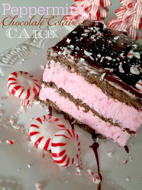 Chocolate eclair cake, Peppermint chocolate and Chocolate eclairs on ...