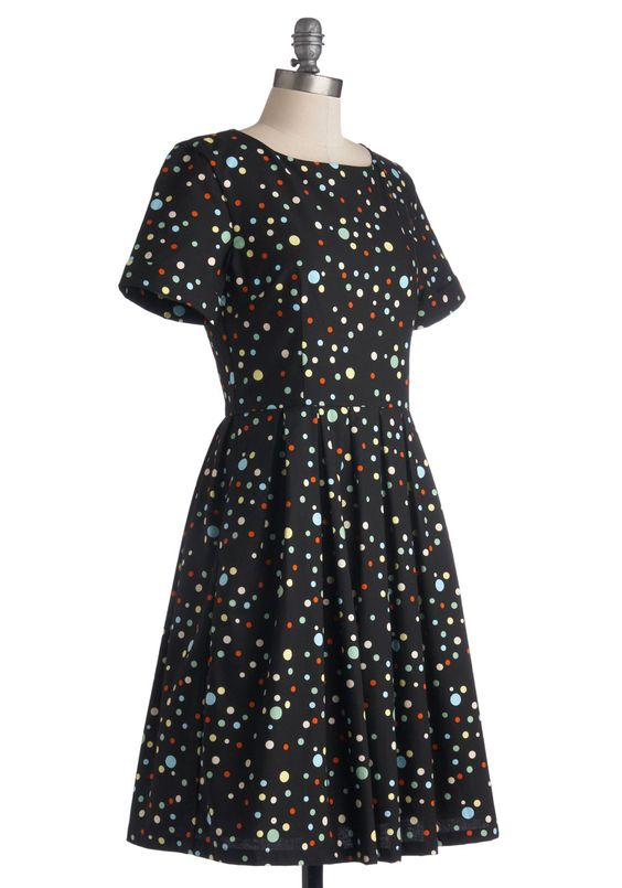 Staple of Your Style Dress. Playfully stylish and positively sweet, this Bea  Dot dress is your go-to piece for your on-the-go agenda! #black #modcloth