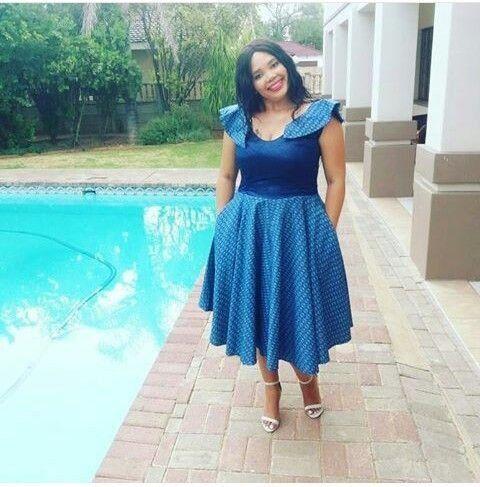 Newest Shweshwe Umembeso Wedding Dress for 2019