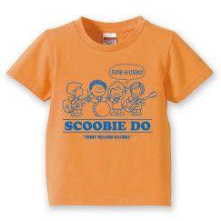 『スクービーのFUNKY MELLOWな仲間たち』 KIDS Tシャツ(Sherbet Orange × Blue)