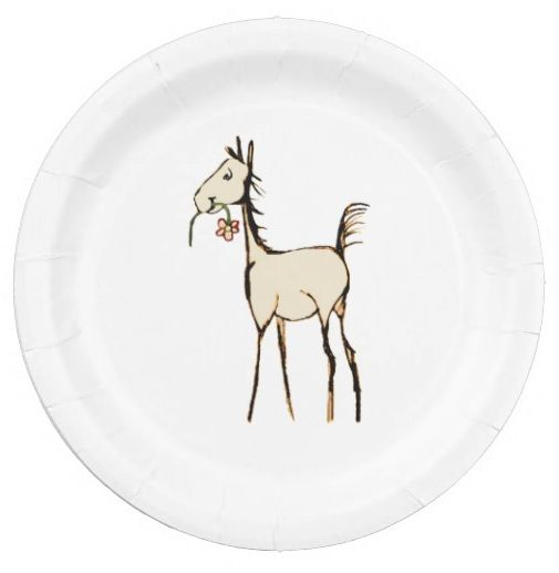 Whimsical Foal Baby Shower Paper Party Plates (8 pk) - The Painting Pony