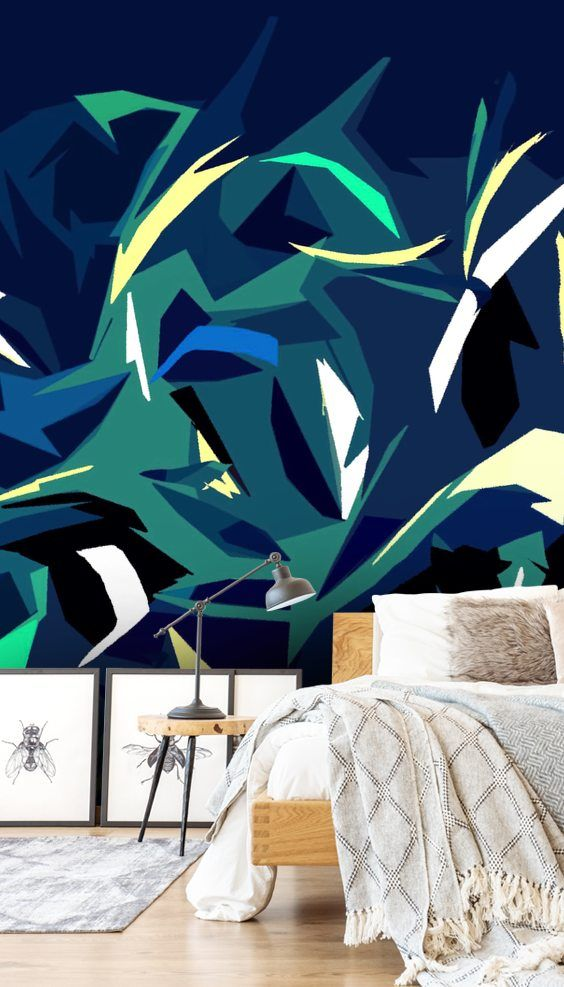 Abstract Forest Wallpaper Wallsauce Us Forest Wall Mural Forest Wallpaper Mural Wallpaper