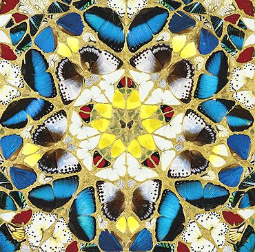 """GlassLdC Flash: Damien Hirst kills 9,000 butterflies in the name of art. Hirst's exhibit titled """"In and Out of Love"""" featured live butterflies which were replaced by the 400 weekly. Butterflies are such wonderful animals, they should not have been massacred for the sake of art. #cruel"""