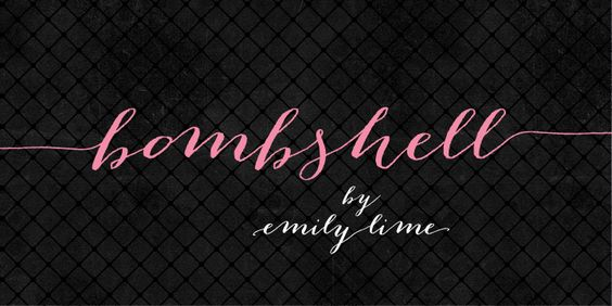"""Nice to have two sizes of """"Ls"""" in a cursive font. Bombshell Pro - Webfont & Desktop font « MyFonts:"""