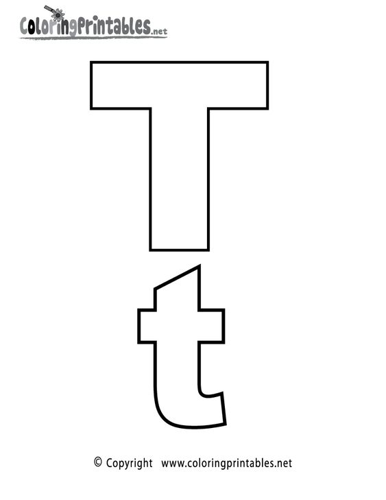 Alphabet Letter T Coloring Page - A Free English Coloring ...