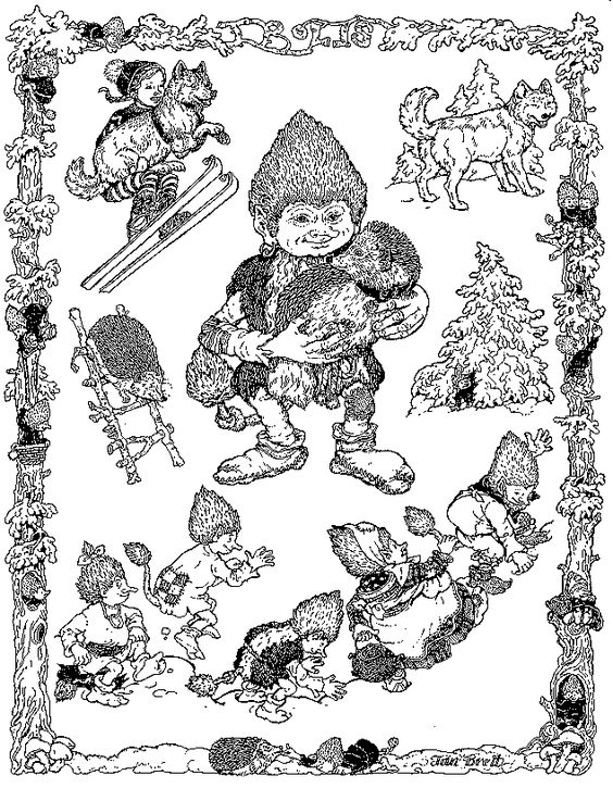 Jan brett christmas trolls coloring page - Trouble With Trolls Summary