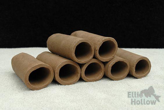 Dark brown rough pleco cave / legholen voor lnummers