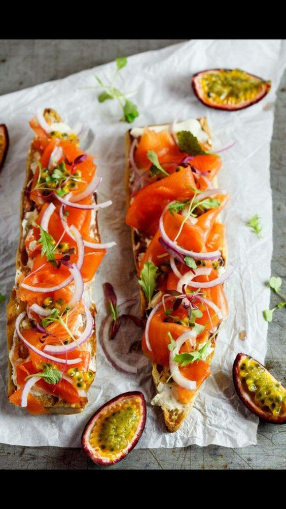 Tartine de saumon