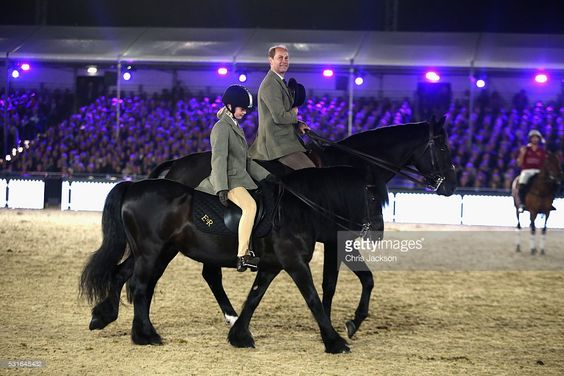 Prince Edward, Earl of Wessex and Lady Louise Windsor ride out on the final night of Queen Elizabeth II's 90th Birthday Celebrations at Windsor on May 15, 2016 in Windsor, England.  (Photo by Chris Jackson/Getty Images)
