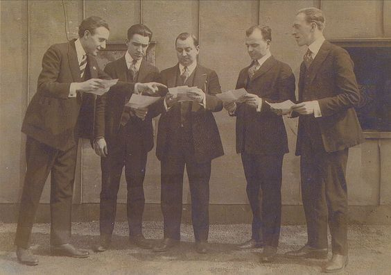 Louisiana Five Contracts Members of the Louisiana Five jazz band wear three-piece suits, 1919. Courtesy of Nunez family collection.