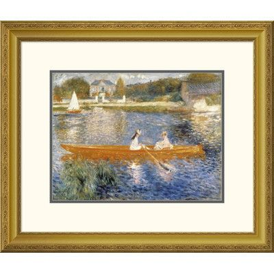Global Gallery 'The Seine at Asnieres' by Pierre-Auguste Renoir Framed Painting Print Size: