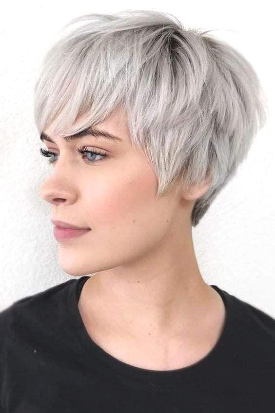 Grey Pixie Haircuts 2020 Grey Pixie Haircuts 2020 Grey Pixie Haircuts Oval Face Haircuts Thick Hair Styles Haircut For Thick Hair