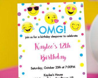 Emoji Party Pooper Invitation INSTANT by PrintableStudio505