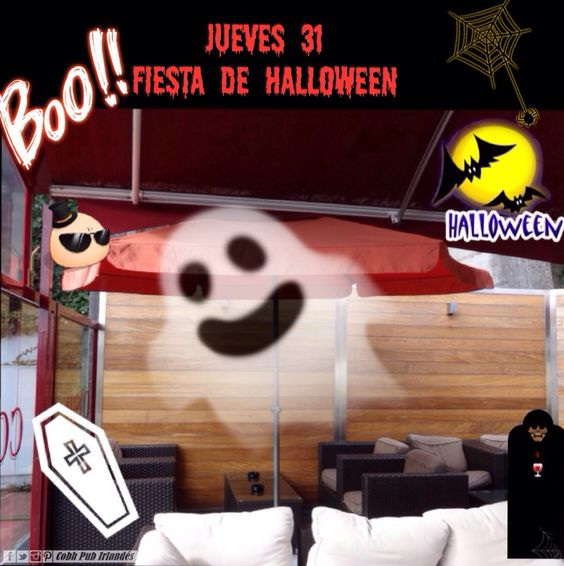 Ya queda menos para la fiesta! Habrá premio para el mejor disfraz terrorífico #CobhPub #Sada #Spain #Halloween