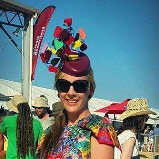 Helen Valcoe #birdsvilleraces #birdsville #melbournecup #millinerytechniques #hatmaking #spring2015 #winner #fashioninthefield by torbandreinermillinerysupplies
