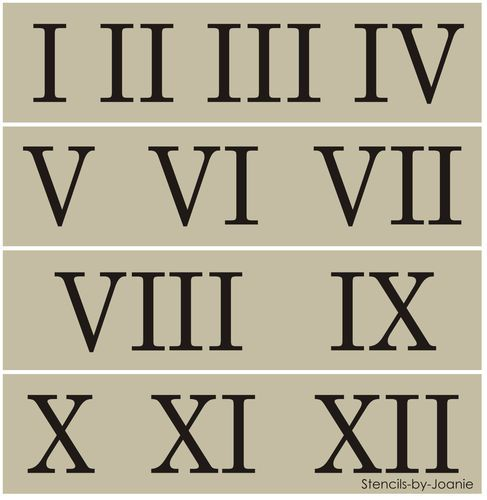 graphic regarding Roman Numeral Stencil Printable known as Dani (bballdani055) upon Pinterest