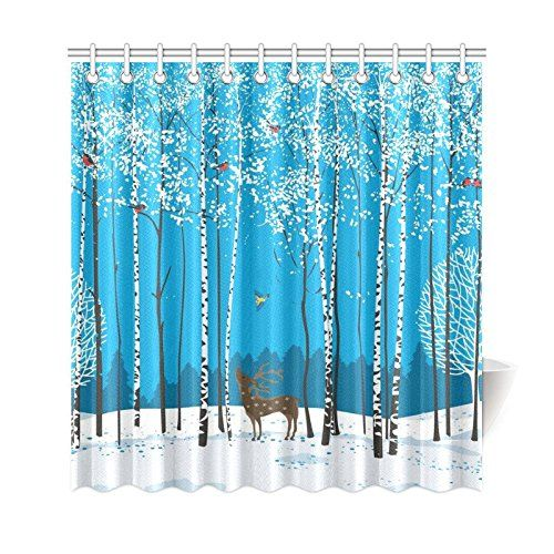 tree shower curtains fabric decor