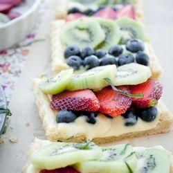 beautiful Fruit Tart with Cardamom Cream