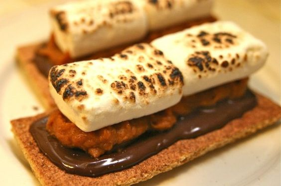 Give your s'mores a little kick with some sweet potato! #recipes  http://blog.zui.com/2011/11/thanksgiving-dessert-ideas-sweet-potato-smores/