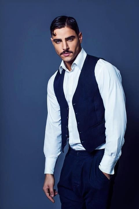 Eliran David Biton. Vintage look is super cool. His hair is stunning. Attitude is everything.