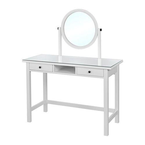 Hemnes Frisiertisch Mit Spiegel Weiss Weiss Gebeizt Ikea