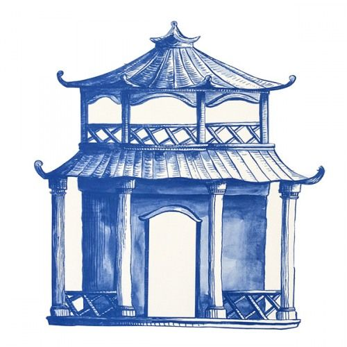 Pagoda Diecut Paper Placemats Chinoiserie Art Pagoda Placemats
