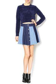 Denim Patch Skirt - Front full body