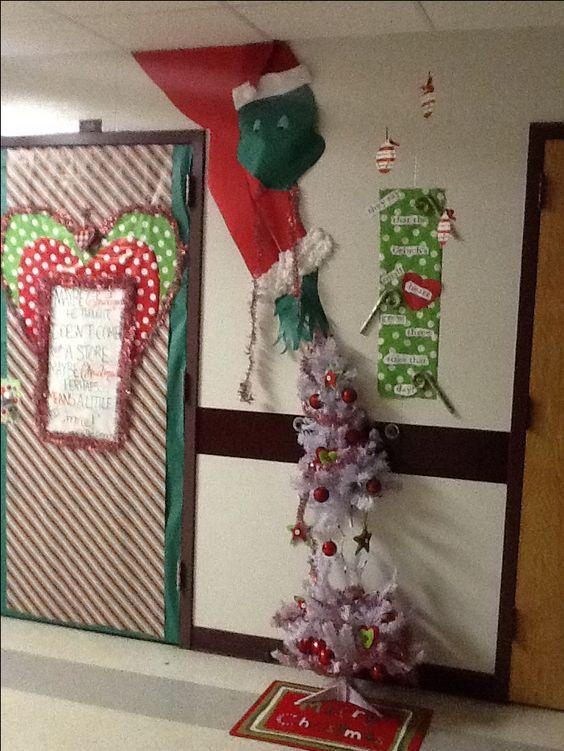 Razorback Classroom Decor ~ Classroom door grinch and on pinterest