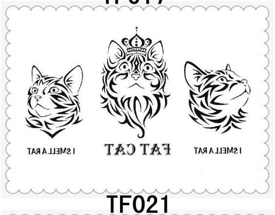 24pcs kediler dudaklar karahindiba Eyfel Havlu çizimleri geçici sahte tatto çıkartmaları dövme 10designs su geçirmez Sanat 3D Ücretsiz Kargo