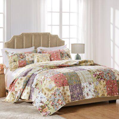 August Grove Bauer Reversible Quilt Set Quilt Sets Sham Bedding House Styles