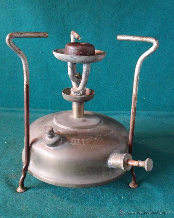 Antigua lampara de petroleo o infiernillo de alcohol - Lamparas antiguas ...