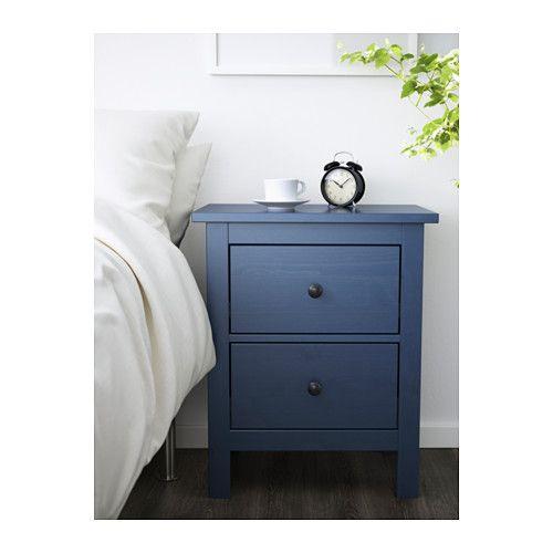 HEMNES Commode 2 tiroirs - bleu - IKEA