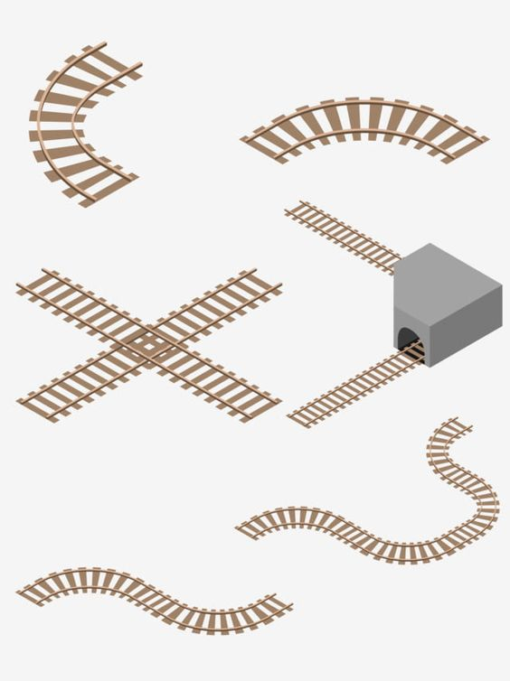 Hand Drawn Sleeper Train Track Collection Hand Drawn Sleepers Train Tracks Png And Vector With Transparent Background For Free Download How To Draw Hands Color Vector Colorful Backgrounds