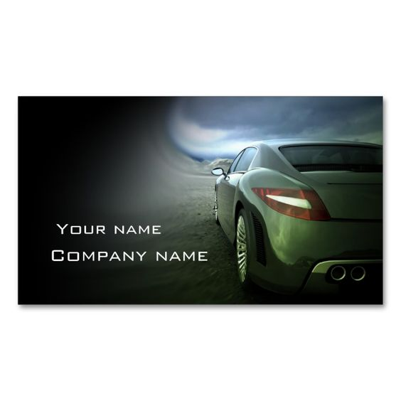 Stylish automotive business card. Make your own business card with this great design. All you need is to add your info to this template. Click the image to try it out!