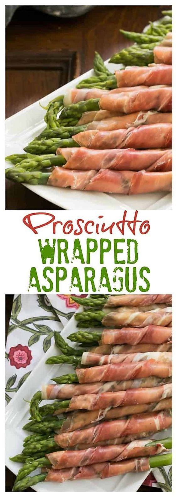 Prosciutto Wrapped Asparagus with Boursin is an easy, elegant 3-ingredient appetizer that ALWAYS gets rave reviews! #appetizer #easy #asparagus #prosciutto #3ingredients #easyrecipe #springappetizer #thatskinnychickcanbake