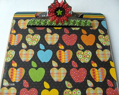 Dress up a clipboard. With retro apples. - Mod Podge Rocks